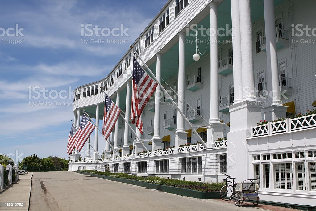 Grand Hotel, Mackinac Island, Michigan stock photo