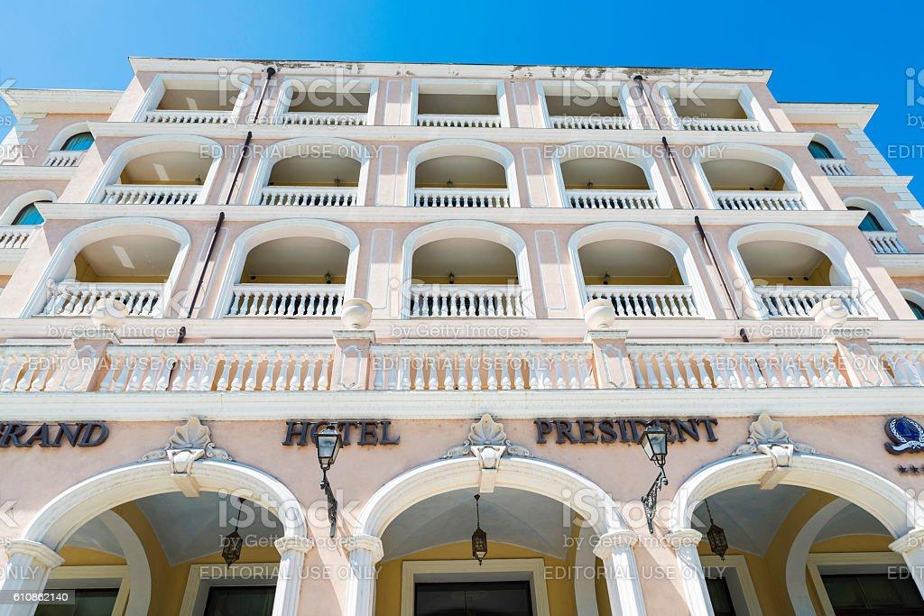 Grand Hotel President in Olbia, Sardinia, Italy stock photo