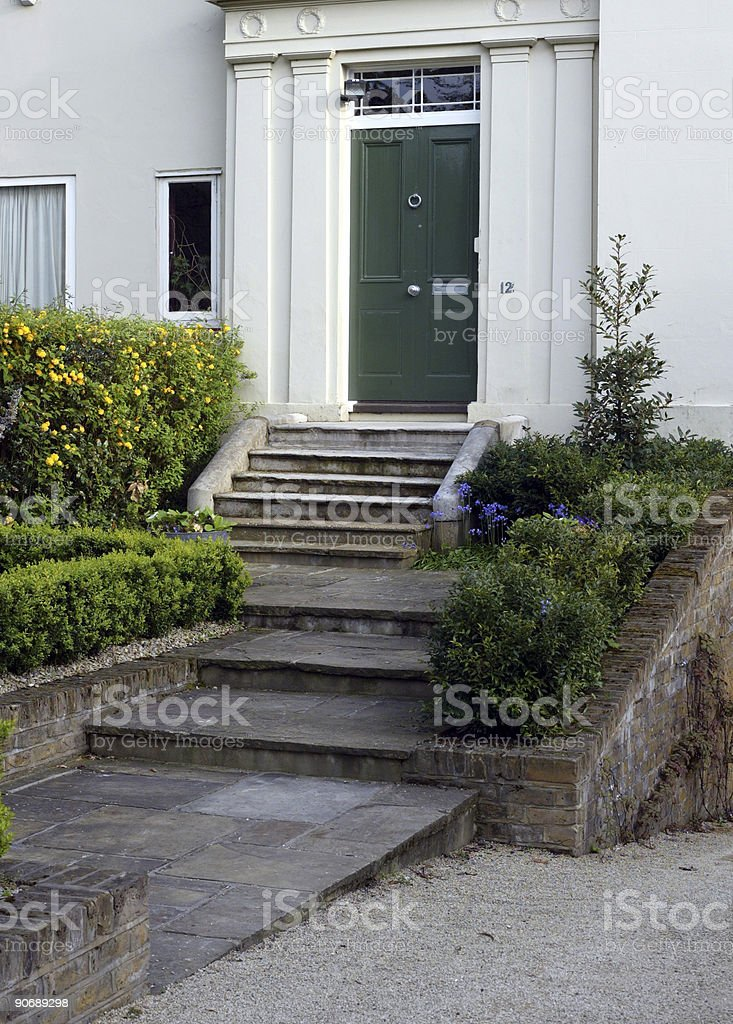 Grand House Entrance royalty-free stock photo
