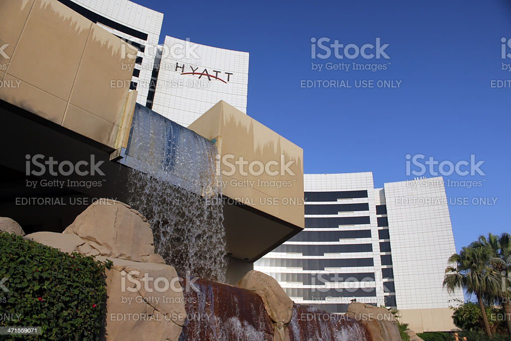 Grand Hyatt Hotel stock photo