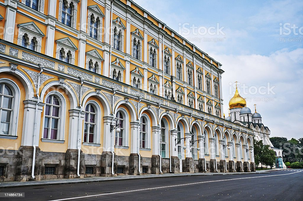 Grand Kremlin Palace in Moscow, Russia royalty-free stock photo