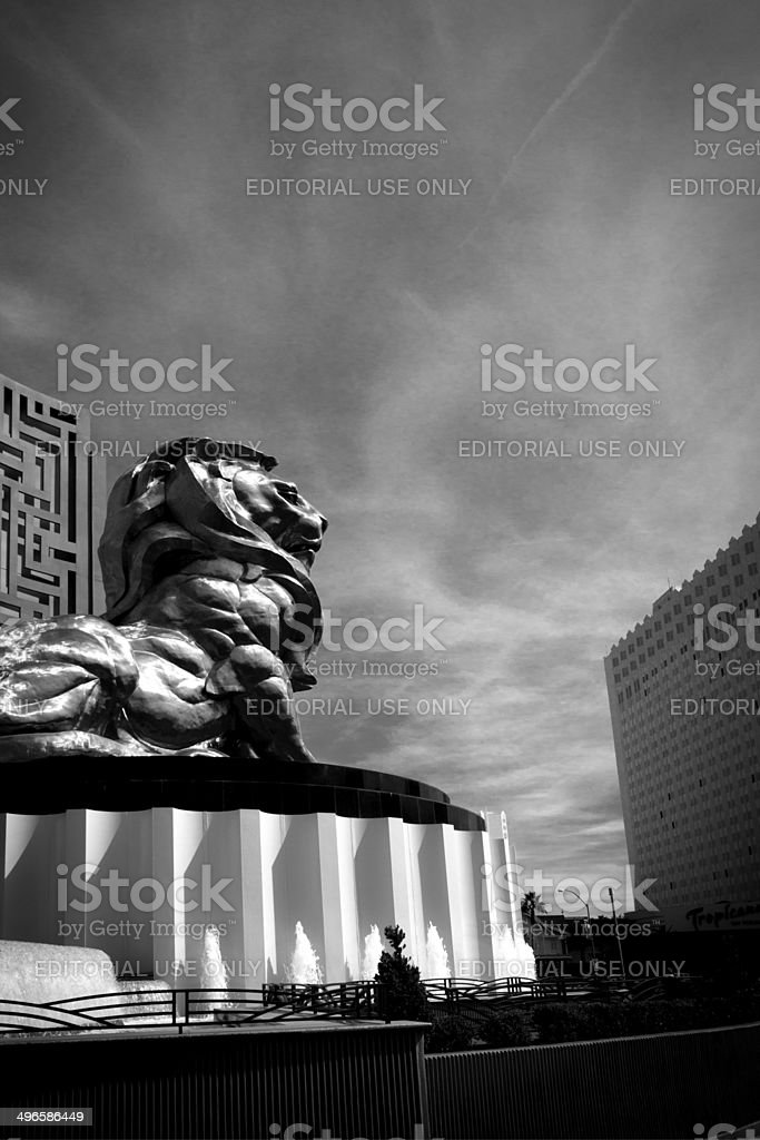 MGM Grand Lion stock photo