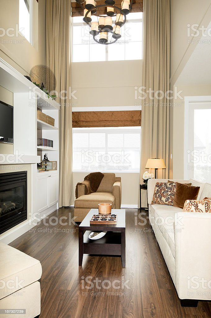 Grand living room in a modern style royalty-free stock photo