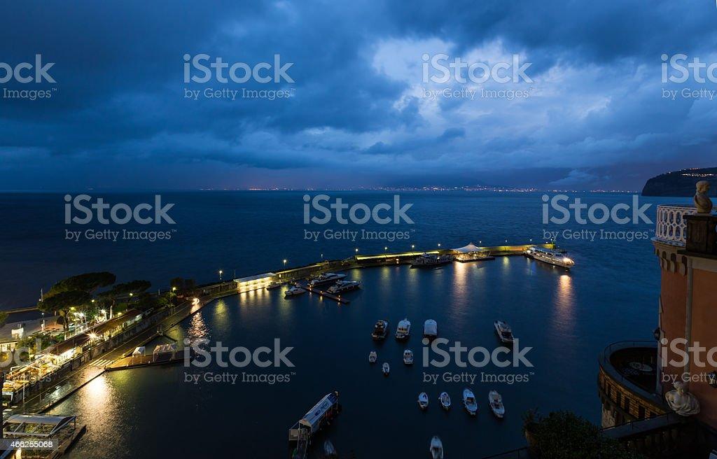 grand marina in Sorrento, Italy stock photo
