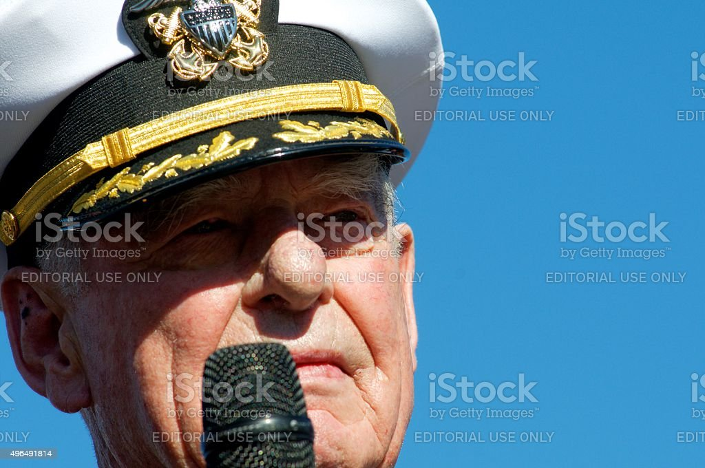 Grand Marshall Lenfest at Inaugural Philly Veterans Parade stock photo