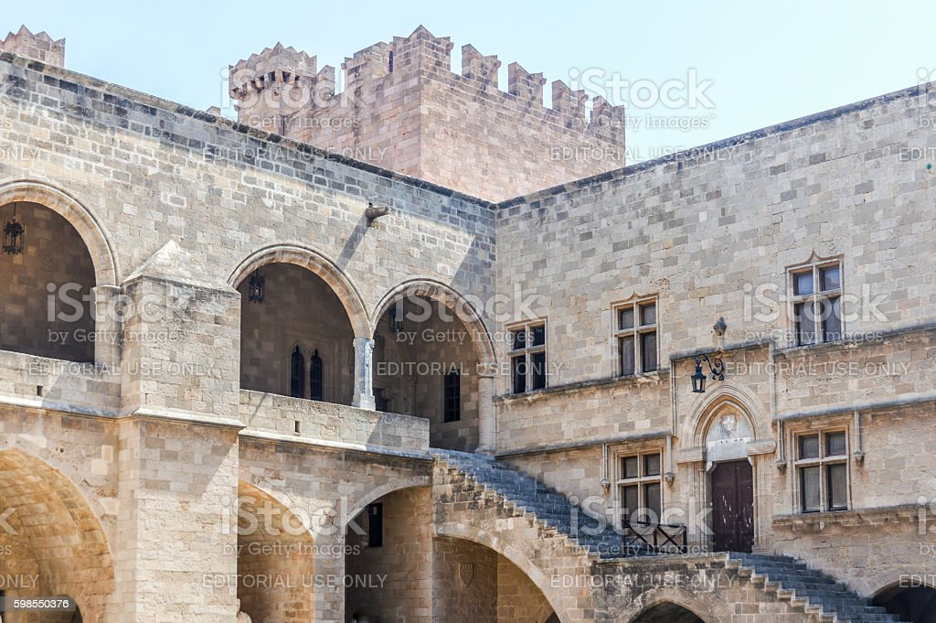 Grand Master of the Knights Palace in Rhodes, Greece stock photo