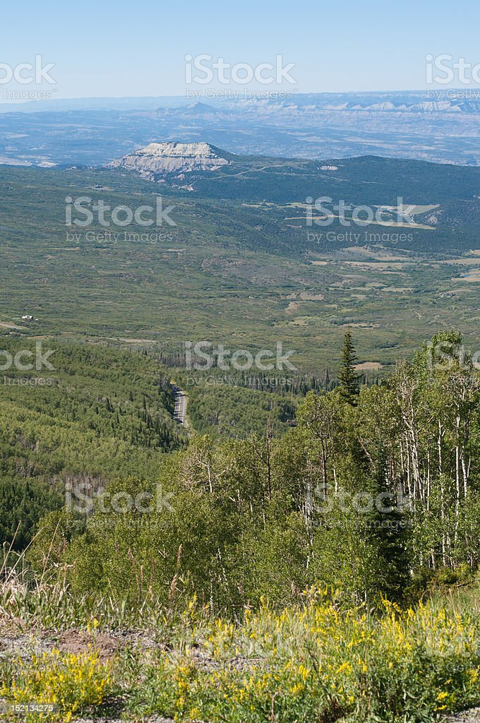 Grand Mesa Summer Overlook stock photo