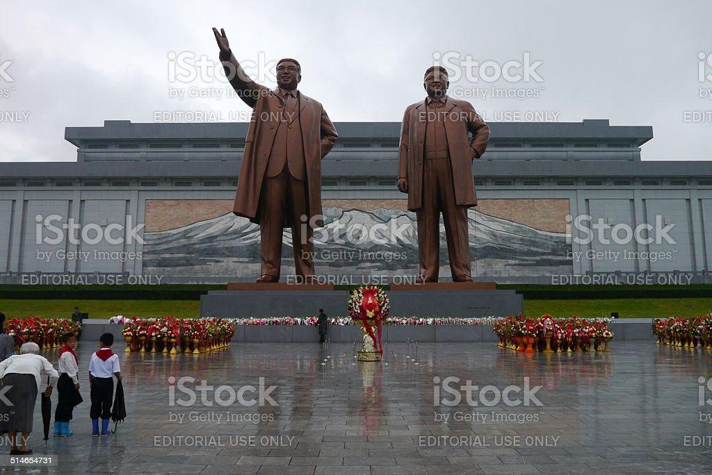Grand Monument in Pyongyang, North Korea stock photo