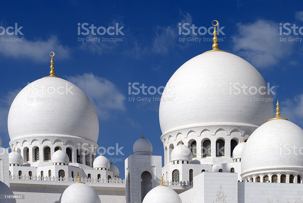 Grand Mosque - Abu Dhabi royalty-free stock photo