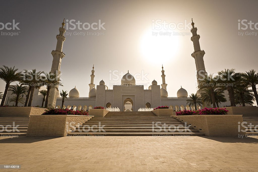 grand mosque - abu dhabi stock photo