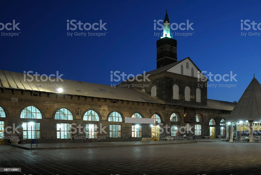 Grand Mosque (Ulu Cami), Diyarbakir, Turkey royalty-free stock photo