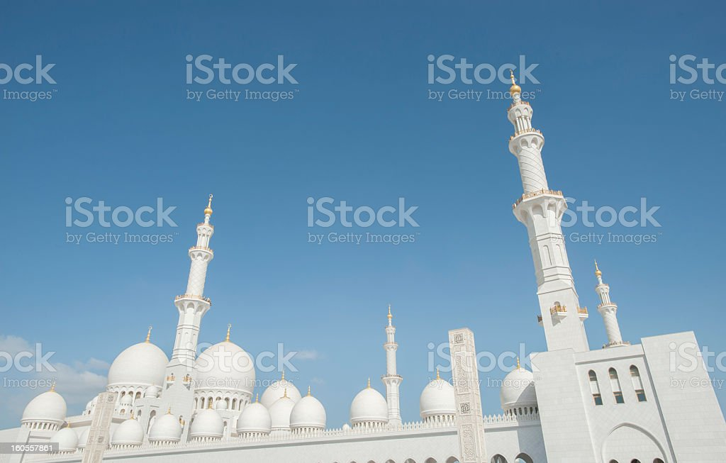 Grand Mosque in Abu Dhabi royalty-free stock photo
