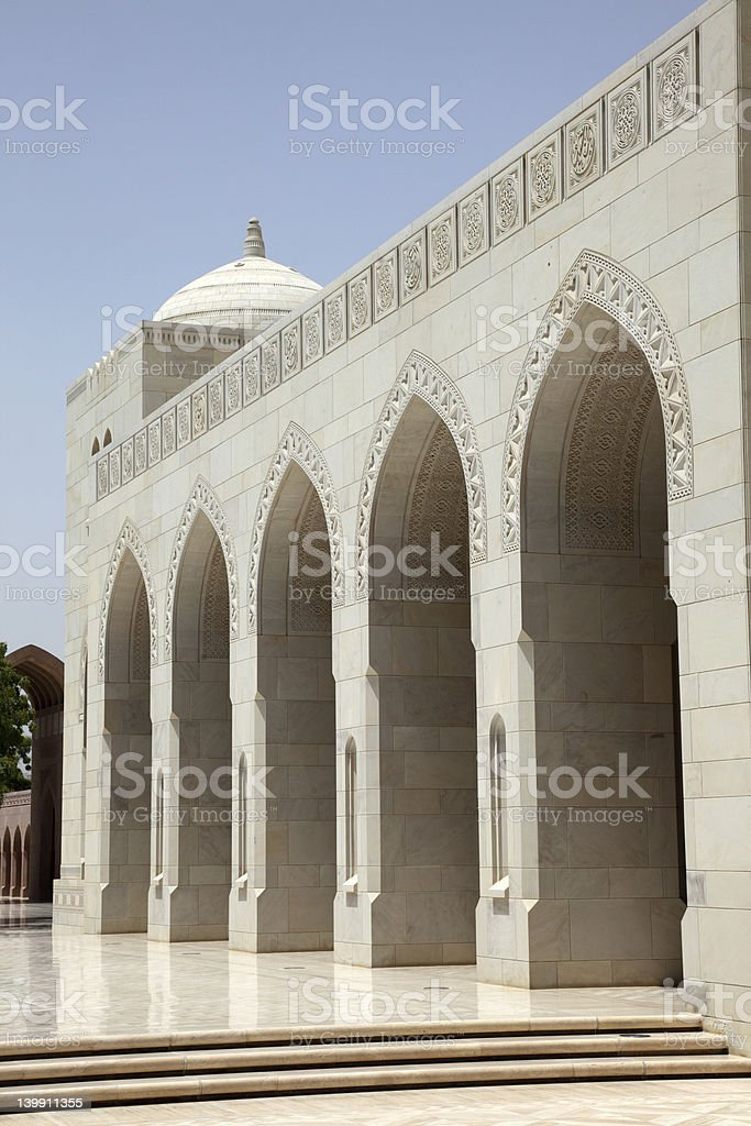 Grand Mosque in Muscat, Oman royalty-free stock photo