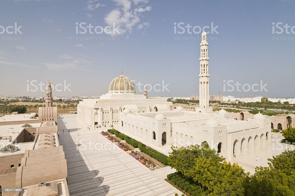 Grand Mosque in Muscat royalty-free stock photo
