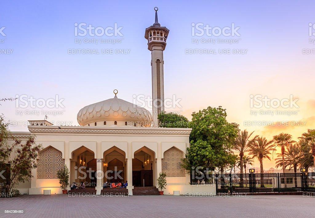 Grand Mosque of Dubai stock photo