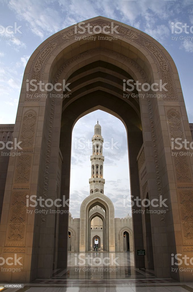Grand Mosque Sultan Qaboos Muscat Oman royalty-free stock photo