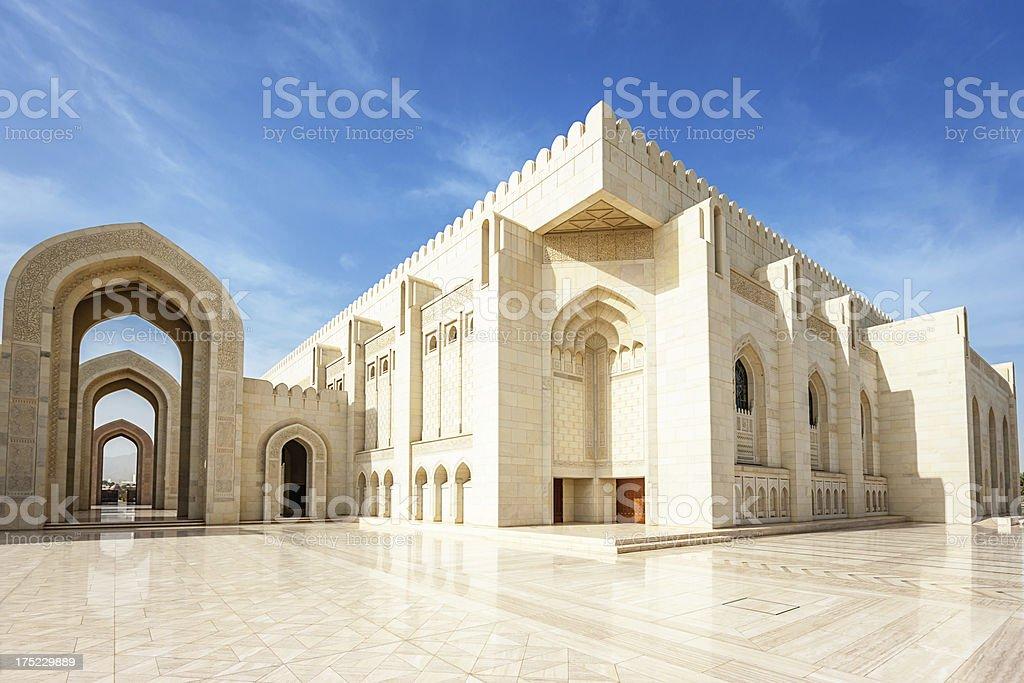 Grand Mosque Sultan Qaboos Prayer Hall,Oman stock photo