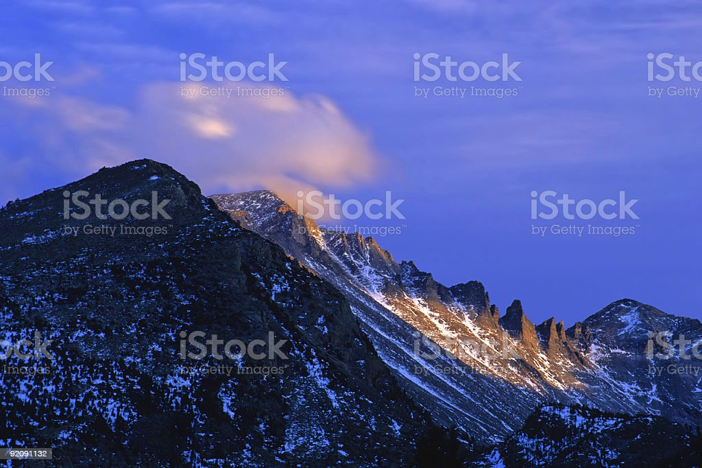 grand mountain sunset royalty-free stock photo