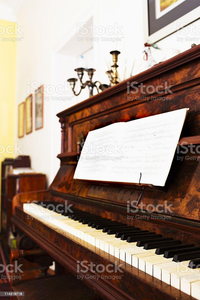 Grand old piano royalty-free stock photo