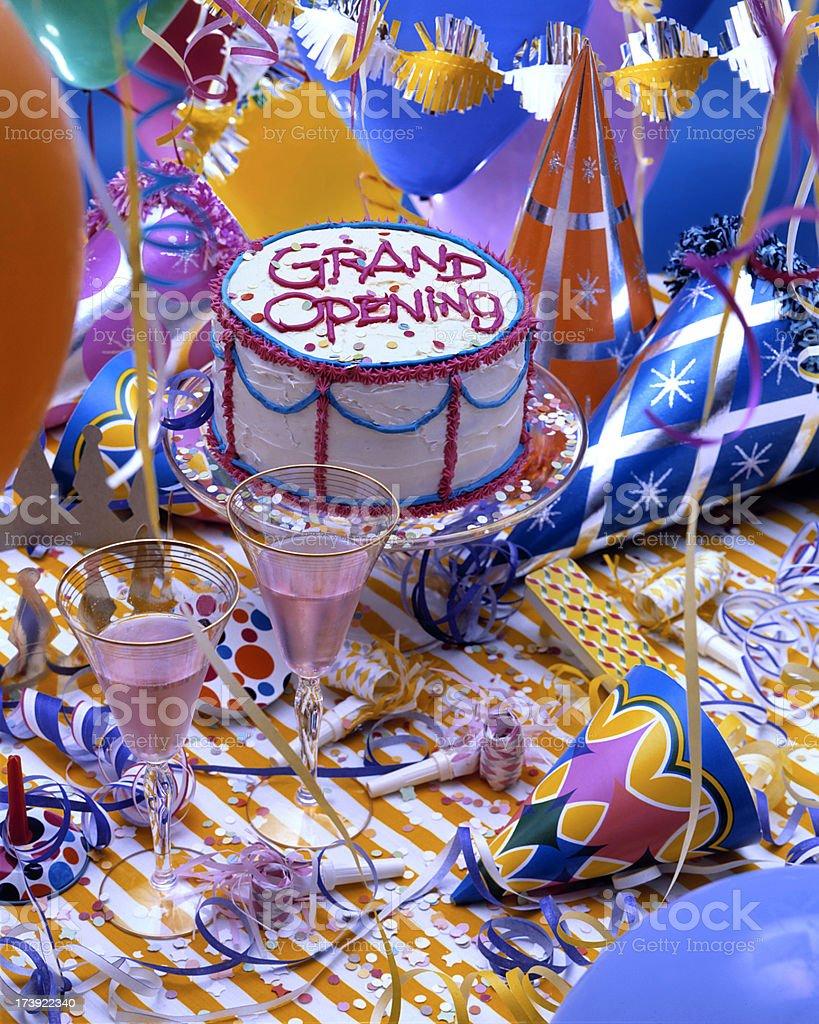 Grand Opening Cake stock photo