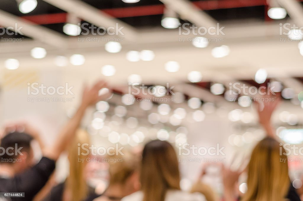 grand opening of new stores ,soft focus stock photo