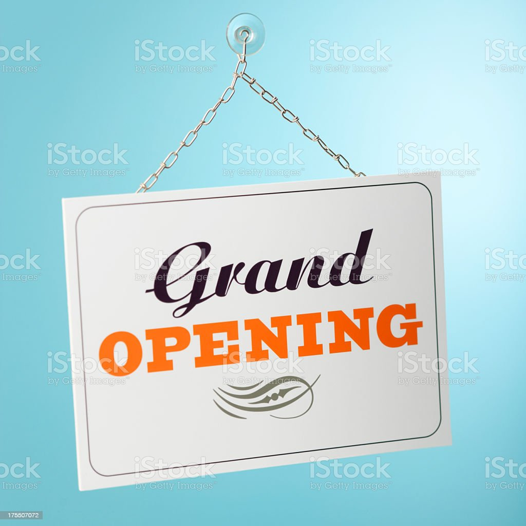 Grand Opening sign stock photo