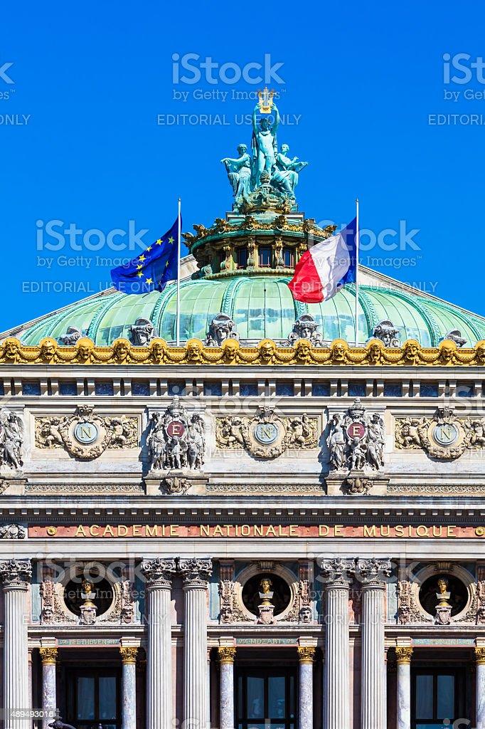Grand Opera (Opera Garnier) in the summer morning, Paris, France royalty-free stock photo