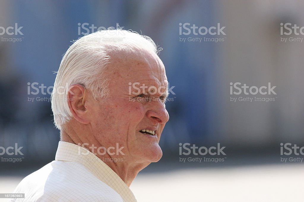 Grand pa in the sun royalty-free stock photo