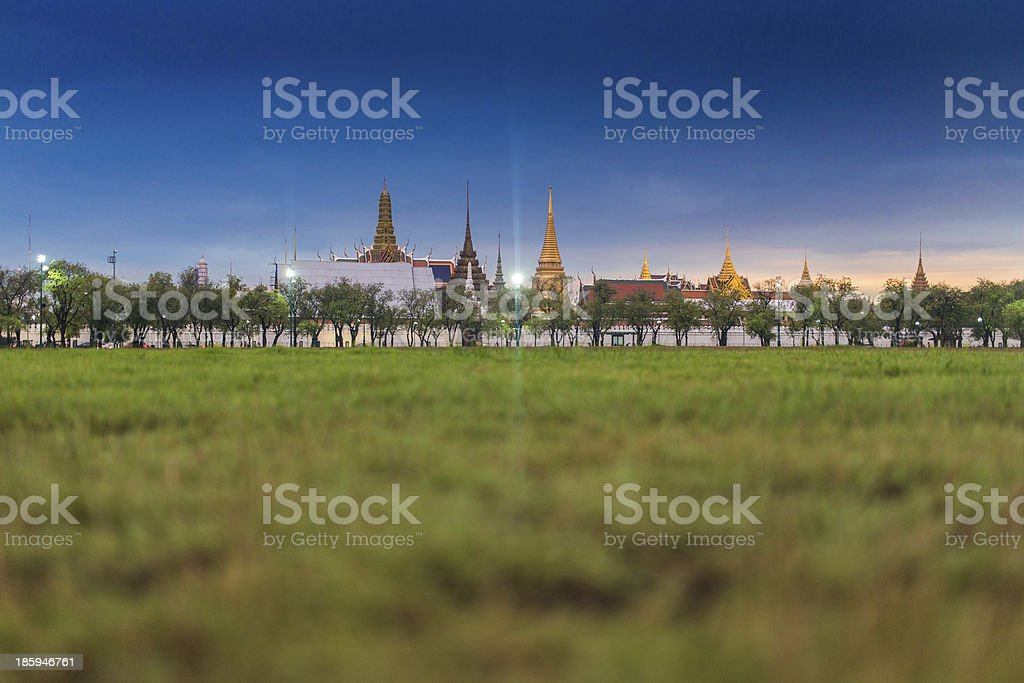 Grand Palace and Sanam Luang Park royalty-free stock photo