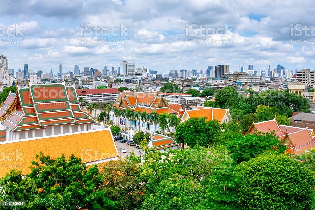 Grand palace and the city of Bangkok. foto royalty-free