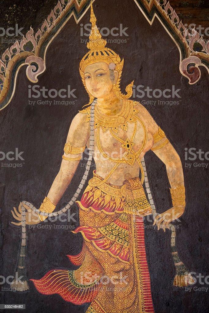 Grand Palace Art, Bangkok stock photo