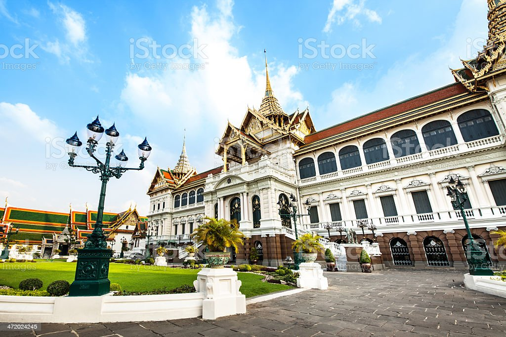 Grand Palace (temple of Emerald Buddha), attractions in Bangkok, Thailand. royalty-free stock photo