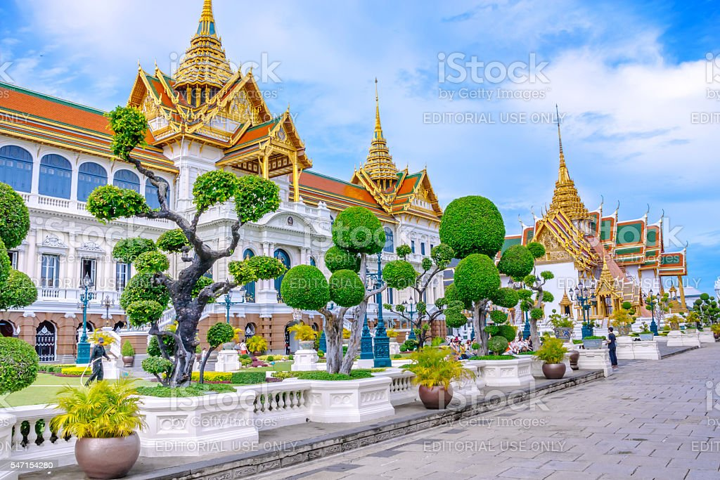 Grand Palace court building in Bangkok, Thailand foto royalty-free