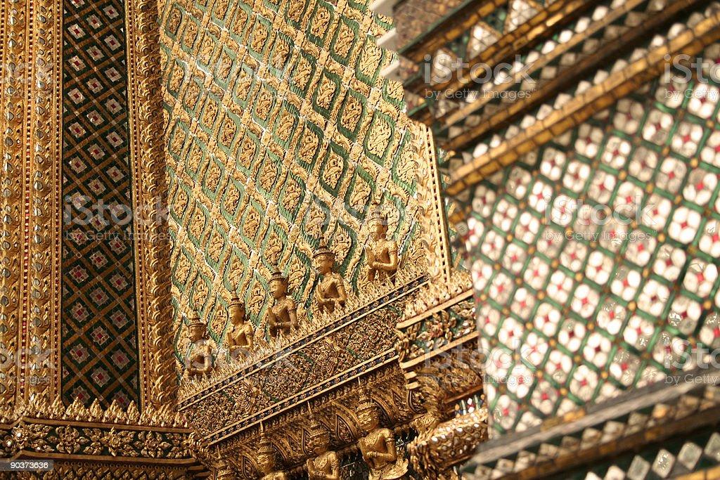 grand palace details bangkok thailand royalty-free stock photo