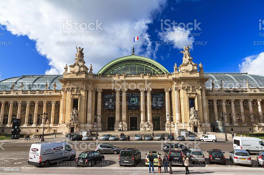 Grand Palais facade stock photo
