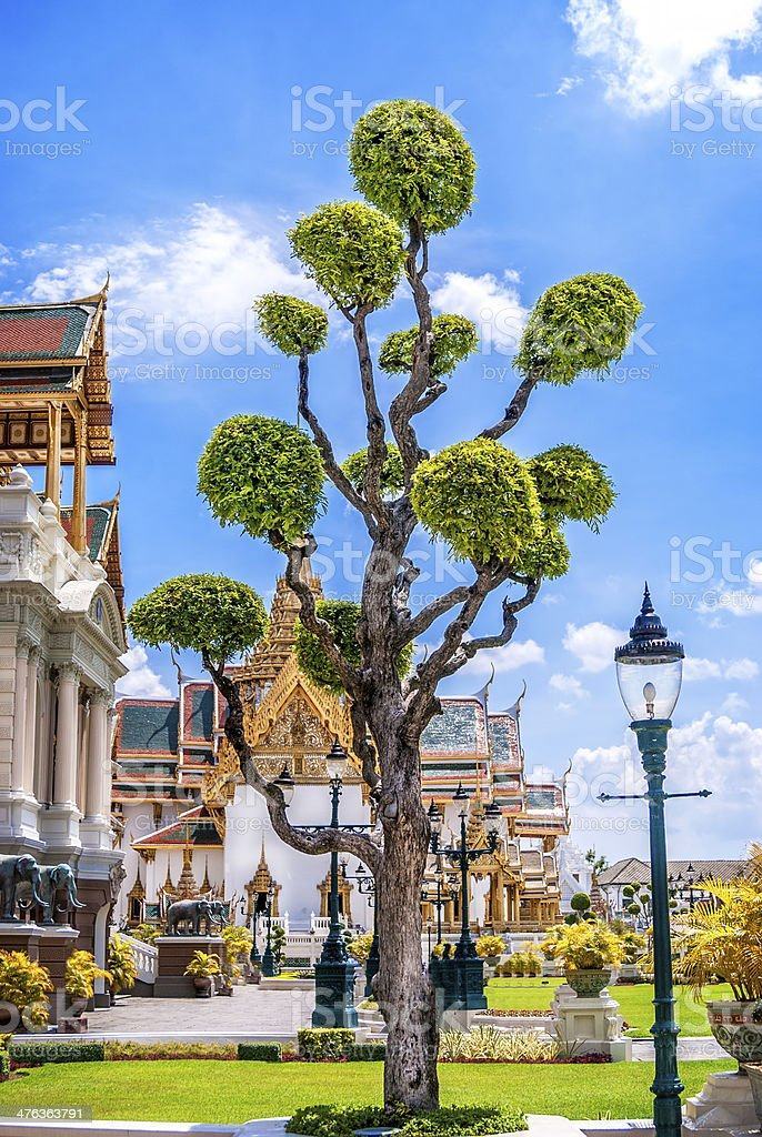 Grand Palace Gardens stock photo