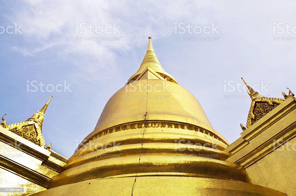 Wielki Pałac Złota Świątynia Wat Phra Kaew w Bangkoku w Tajlandii zbiór zdjęć royalty-free