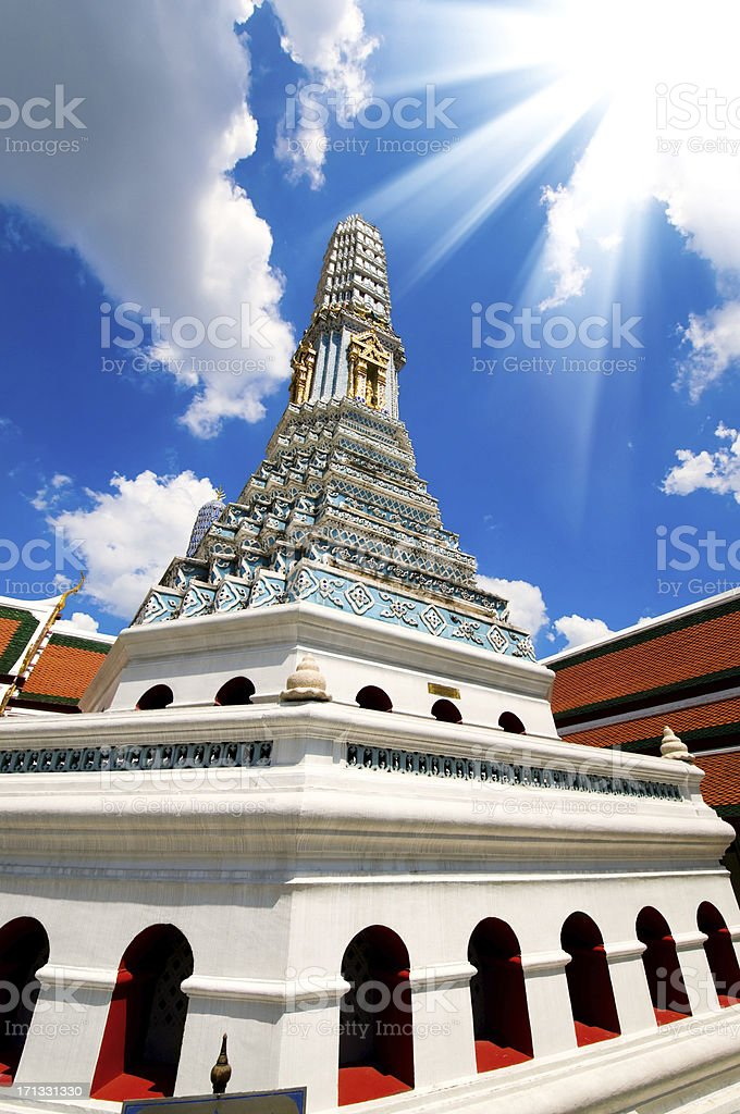 Grand Palace in Bangkok and Wat Phra Kaew Temple Interior royalty-free stock photo
