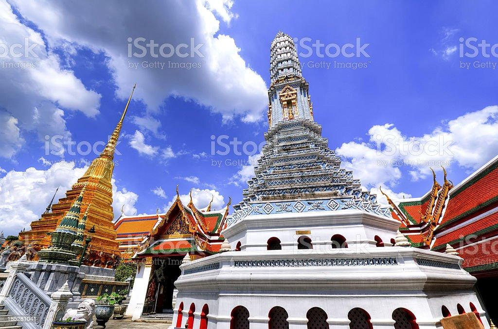 Grand Palace in Bangkok and Wat Phra Kaew Temple Interior royalty-free stock photo