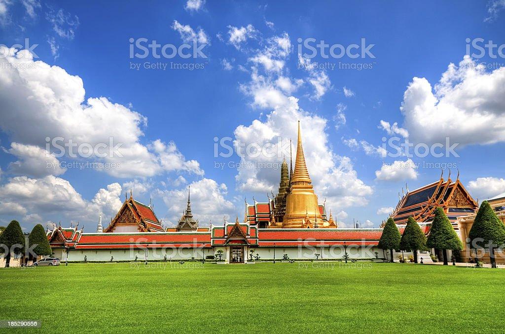 Grand Palace in Bangkok and Wat Phra Kaew Temple royalty-free stock photo