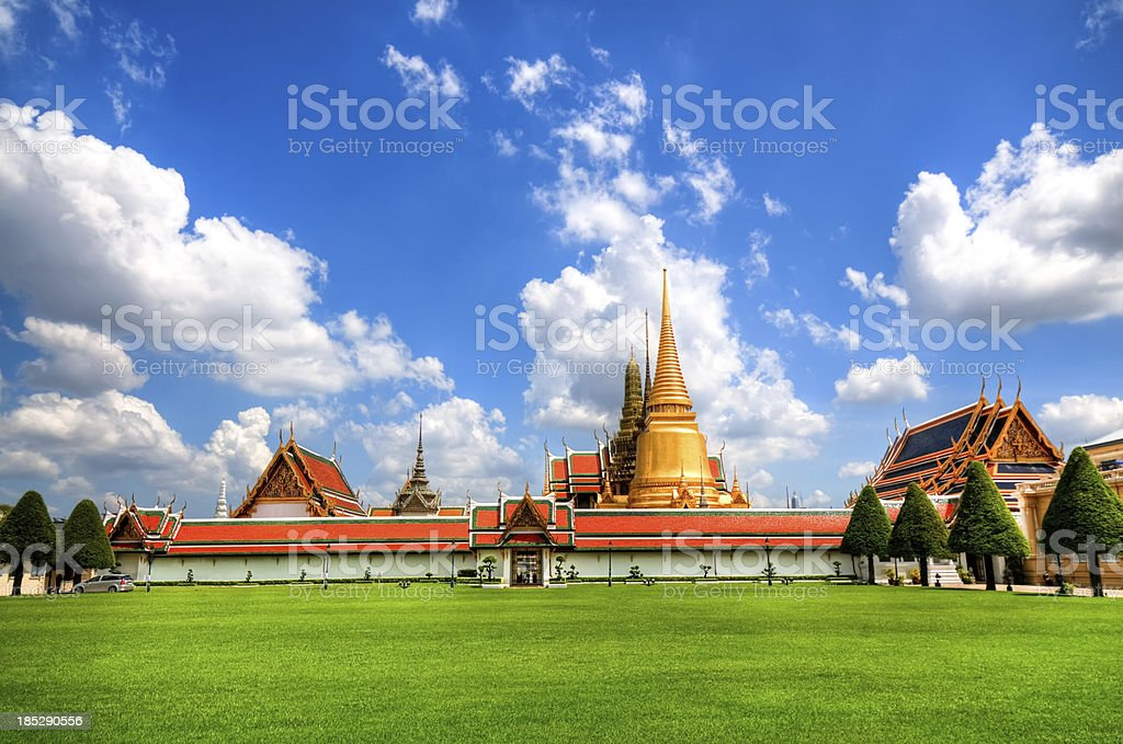 Grand Palace in Bangkok and Wat Phra Kaew Temple stock photo