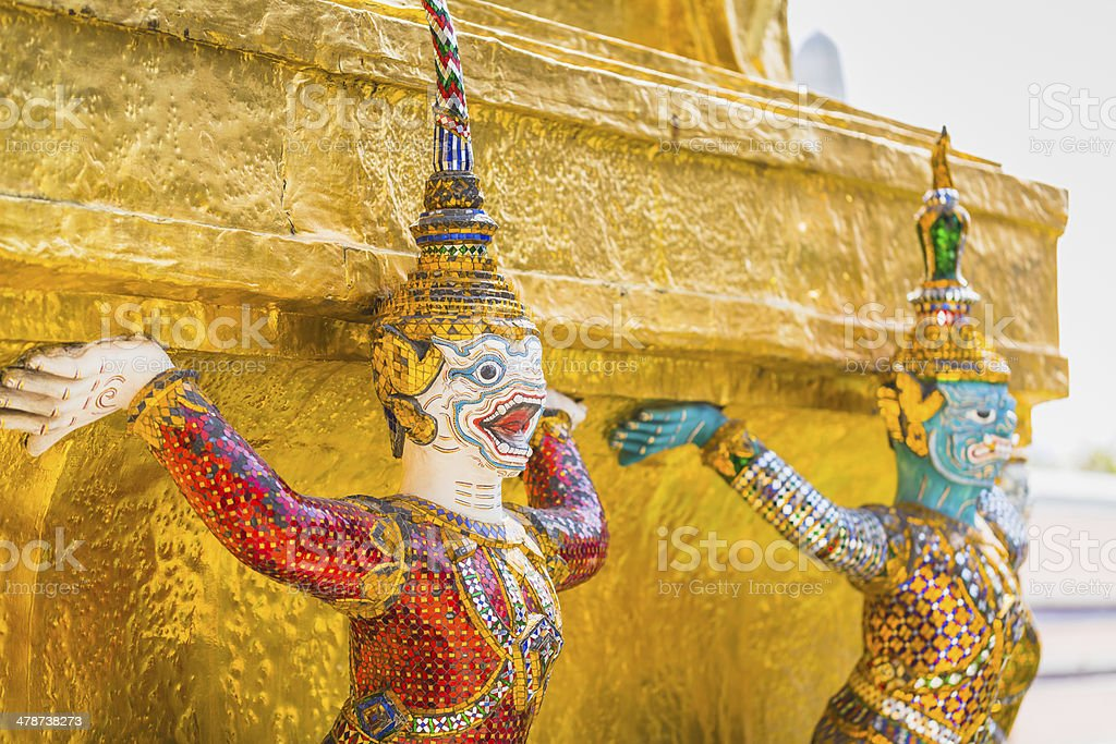 Grand Palace in Bangkok royalty-free stock photo