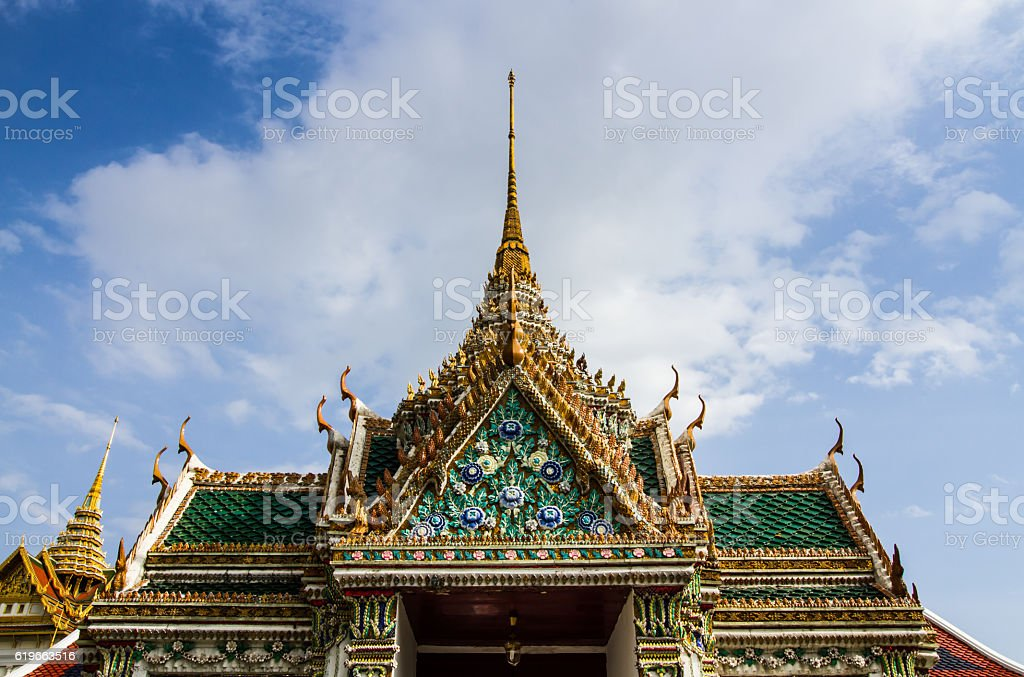 Grand palace roof stock photo