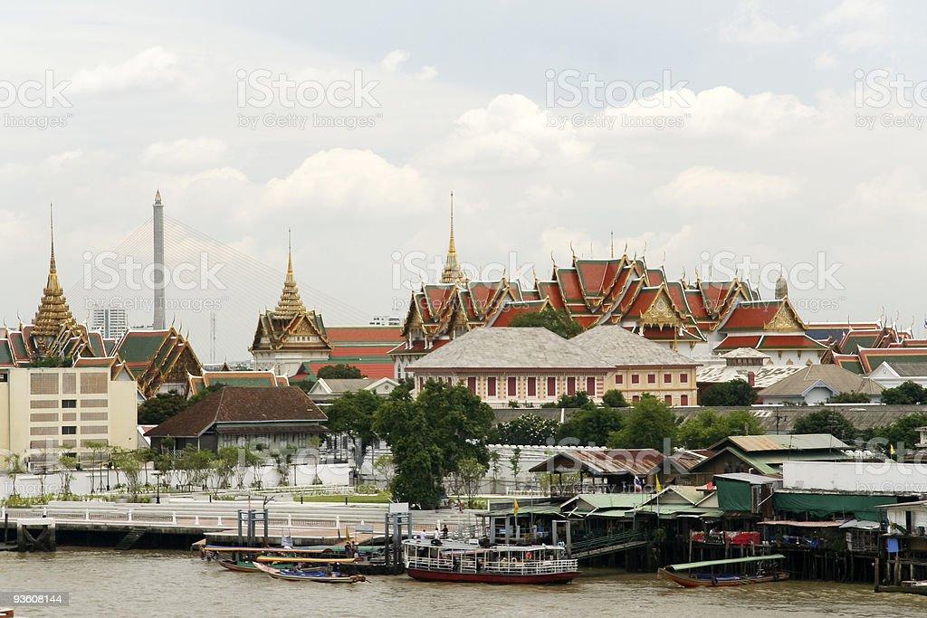 grand palace skyline bangkok royalty-free stock photo