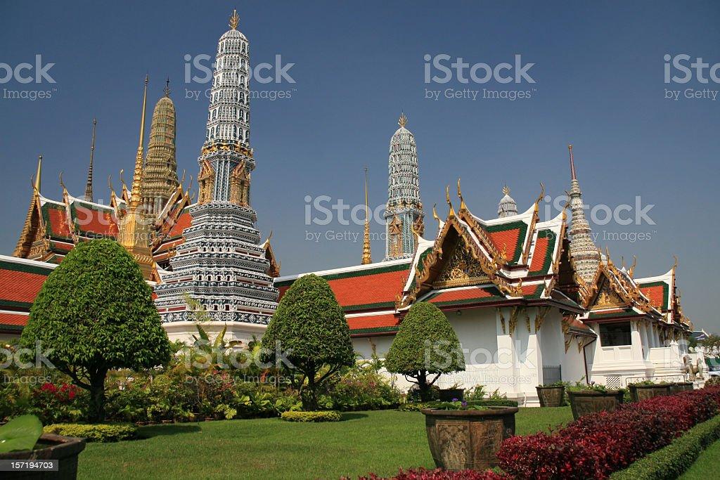 Grand Palace Temple, Bangkok, Thailand royalty-free stock photo