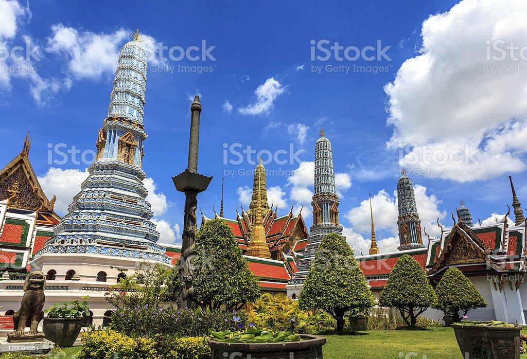Grand Palace Temple, Bangkok, Thailand stock photo