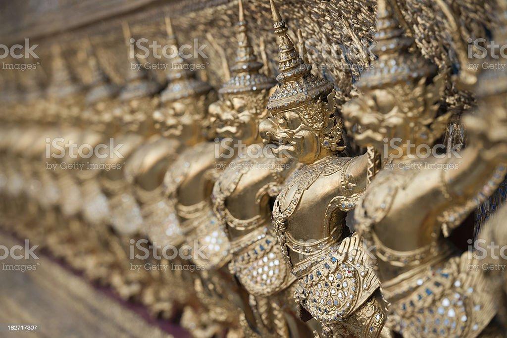 Grand Palace, Temple of the Emerald Buddha (XXXL) royalty-free stock photo