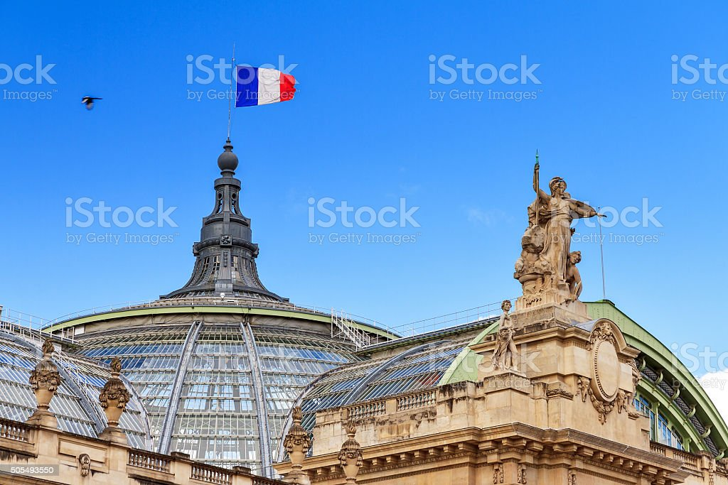 Grand palais dome flag stock photo