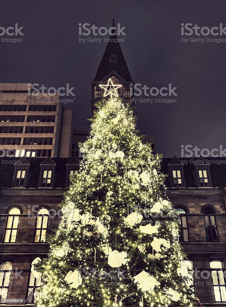Grand Parade Christmas Tree stock photo