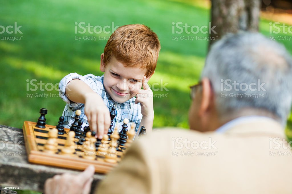 Grand parenting stock photo
